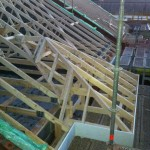 truss roof work with traditional bay window